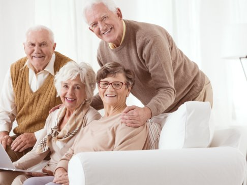 smiling old people